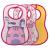 Chicco Easy Meal Bib frottir előke vízálló hátlappal 6 hó+ 3 db-os, lány