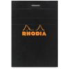 Clairefontaine Rhodia fekete jegyzetblokk Mérete: 8 5x12cm kockás