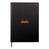 Clairefontaine Rhodia notesz  vonalas (keményfedeles  96lap  A4)  fekete