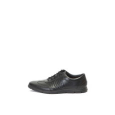 Clarks , Vennor Vibe bőrcipő, Fekete, 10.5 (VENNOR-VIBE-BLACK-LEATHER-45)