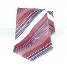Classic prémium nyakkendõ - Lazac-fehér csíkos