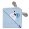 Clevamama babatörölköző bambusz kék kutya