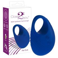 Close2You: Per Due akkus péniszgyűrű (kék) péniszgyűrű
