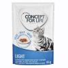 Concept for Life 12 x 85 g Concept for Life Light nedves macskatáp aszpikban