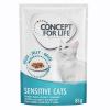 Concept for Life 24x85g Concept for Life Sensitive Cats nedves macskatáp aszpikban