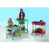 Conen A mozgatható iskolai barkács-, játék,és építőkocsi (szürke)