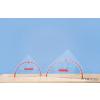 Conen Szögmérős háromszögvonalzó (80 cm-es), mágneses
