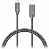 Connect IT Wirez Steel Knight Micro USB 1m, metallic anthracite