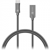 Connect IT Wirez Steel Knight USB-C 1m, metallic anthracite