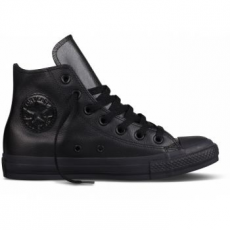 Converse Chuck Taylor All Star Hi Leather Unisex tornacipő, Fekete, 42.5 (135251C-9)