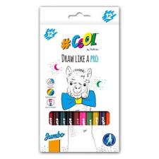COOLBYVICTORIA Színes ceruza készlet, háromszögletű, vastag, COOL BY VICTORIA, 12 különböző szín színes ceruza