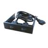 Cooler előlapi USB 3.0 alaplapi kivezetés (2 port, fekete)