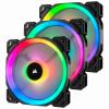 Corsair LL120 RGB 120mm PWM ház hűtő ventilátor 3db LED szabályozóval (CO-9050072-WW)