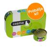 Cosma Vegyes próbacsomag: 6x400g Cosma Original aszpikban nedves macskatáp 4 változattal