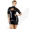 Cottelli Collection Plus Size kivágott vállú party ruha - fekete