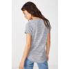 Cotton On Karly női rövid ujjú basic póló, szürke