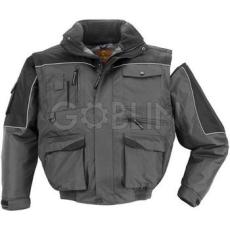 Coverguard RIPSTOP szürke/fekete sokzsebes dzseki, 2/1: levehetõ ujjak, szakadásbiztos anyag