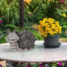 Csiga alakú kerti dísz kerti dekoráció