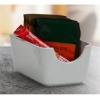""". Cukor és teafilter tartó, négyszögletes, fehér, 11x7,5cm, \""""CoffeeTime\"""""""