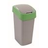 CURVER Billenős szelektív hulladékgyűjtő, műanyag, 50 l, CURVER, zöld/szürke (UCF01)