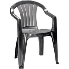 CURVER Sicilia kartámaszos műanyag kerti szék, grafit kerti bútor