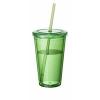 Cyclone duplafalú pohár szívószállal, zöld
