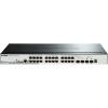 D-Link 28-Port Gigabit Stackable SmartPro PoE Switch including 2 SFP ports and 2 x 10G SFP+ ports- 24 x 10/100/1000Mbps