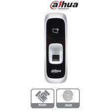 Dahua DHI-ASR1102A(V2) ujjlenyomat és RFID olvasó, Mifare 13,56MHz, RS485, 3000 ujjlenyomat tárolás, 9-15VDC biztonságtechnikai eszköz