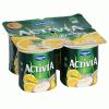 Danone Activia krémes gyümölcsjoghurt 4x125 g citrom