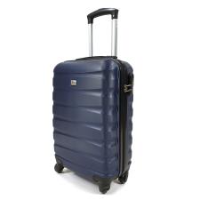 David Jones négykerekű, vízszintes bordás, kék kabinbőrönd BA-1030 kézitáska és bőrönd
