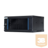 DBX START.LAN fali rack szekrény 19'' 4U 600x450mm fekete