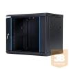 DBX START.LAN fali rack szekrény 19'' 9U 600x450mm fekete