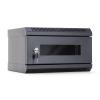DBX START.LAN rack wall-mount cabinet 10 4U 350x200mm black (glass front door)