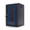 DBX START.LAN rack wall-mount cabinet 10 9U 312x300mm black (glass front door)