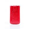 DC iPhone 4/4S kihúzható, zárható bőr tok, piros