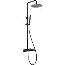 Deante Arnika zuhanyoszlop keverő csapteleppel, fekete fürdőszoba kiegészítő