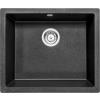 Deante 'Deante CORDA FLUSH Gránit mosogató, 1 medence, metál fekete, 550 x 460 mm'