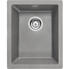 Deante 'Deante CORDA Gránit mosogató - alulról beépíthető, 1 medence, metál szürke, 380 x 460 mm'