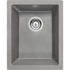 Deante 'Deante CORDA Gránit mosogató - alulról beépíthető, 1 medence, metál szürke, 380 x 460 mm' mosogatótálca