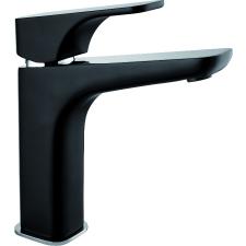 Deante Deante Hiacynt magasított mosdó csaptelep fekete click-clack leeresztővel fürdőkellék
