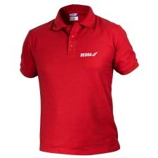 DEDRA BH5PC-XL férfi galléros póló xl, piros, 35% pamut+65% poliészter férfi póló