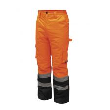 DEDRA BH80SP2-XXXL bélelt nadrág fényvisszaverős, méret xxxl, narancs munkaruha