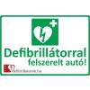 Defibrillatorok.hu - Magyarország Defibrillátor jelző autómatrica (30x20 cm Autómatrica)