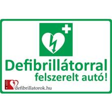 Defibrillatorok.hu - Magyarország Defibrillátor jelző autómatrica (35x25 cm Autómatrica) matrica