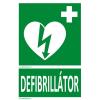 Defibrillatorok.hu - Magyarország Defibrillátor jelző matrica Defibrillátor felirattal (15x25 cm)