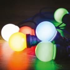 Dekortrend Kertiparti fénysor 5 opál égő RGB világítás