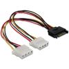 DELOCK 65159 sata - 2xmolex átalakító kábel