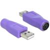 DELOCK 65461 PS/2 anya - USB-A apa adapter