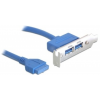 DELOCK 82976 USB 3.0 - 2 x USB 3.0 Slot bracket, 0.4m