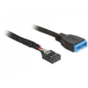 DELOCK 83281 USB 2.0 pin header female > USB 3.0 pin header male
